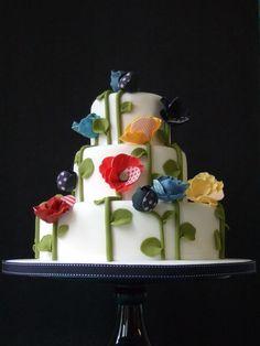 Makiko Searle - Colorful Poppy, Maki's wedding cake