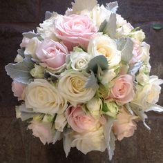 Sweet avalanche , Avalanche , spray rose & senecio Wedding Flowers, Wedding Dress, Spray Roses, Pretty Flowers, Floral Wreath, Wreaths, Sweet, Plants, Projects