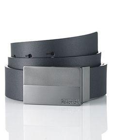 Michael D. - Kenneth Cole Reaction Belt, Dress Plaque Belt - Mens Men's Belts - Macy's