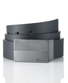 Kenneth Cole Reaction Belt, Dress Plaque Belt - Mens Belts, Wallets & Accessories - Macy's