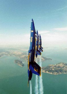 The world famous Blue Angels, the United States Navy Flight Demonstration Team