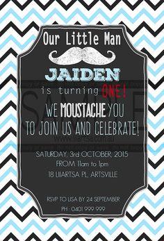 We Moustache You Childrens Birthday Invitations