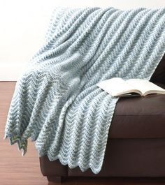 Water Ripples Crochet Afghan | This simple light blue crochet lapghan is perfect for rainy afternoons!