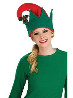 Check out Adult Elf Hat With Mistletoe from Wholesale Halloween Costumes