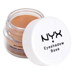 A must for every artist's makeup kit, NYX Professional Makeup cream based Eyeshadow Base primer magnifies eye shadow shades up to their original effect and helps color last longer. Pigment Eyeshadow, Eyeshadow Primer, Makeup Primer, Makeup Kit, Skin Makeup, Eyeshadow Makeup, Primer Cosmetics, Candy Makeup, Lipstick Dupes
