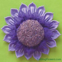 Folded Fabric Flowers - Luxury Lavender flower at FoldingFlowers.com