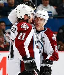 Those were the days. Peter Forsberg & Joe Sakic Colorado Avalanche