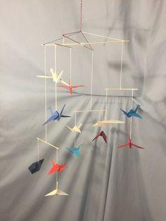 Planes & Cranes - Custom Made Origami Mobile