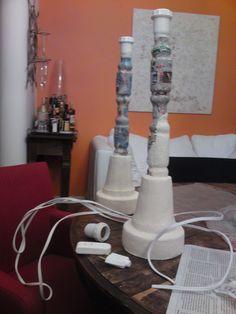 Abajur (2) semi-pronto - lamp (2) almost finished
