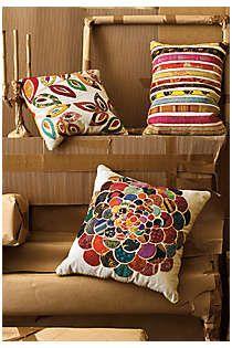 Anthropologie - Orimono Pillow, Flower