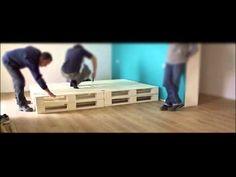 Pallet pieghevole  Giornata di formazione: montaggio e funzionamento letto BANKI ® - YouTube