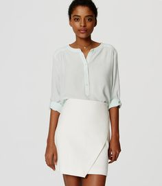 Primary Image of Shirred Utility Blouse
