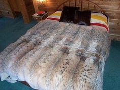 Lynx Fur Blanket x Fur Blanket, Blanket Cover, Blankets For Sale, Soft Blankets, Leather Hides For Sale, Bear Skin Rug, Fur Decor, Fur Bedding, Fur Pillow