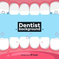 Fondo de dentista en diseño plano vector... | Free Vector #Freepik #freevector #freefondo #freediseno #freemedico #freesalud Dental Clinic Logo, Dental Art, Medical Dental, Dental Training, Preventive Dentistry, Restorative Dentistry, Dental Veneers, Medical Background, Dental Cosmetics