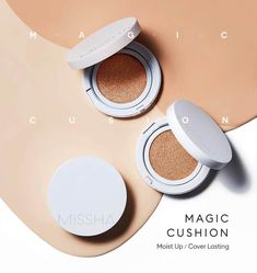 Magic cushion with perfect coverage to help achieve flawless skin and long lasting makeup without darkening Makeup Photography, Photography Tips, Product Photography, Mochi, Concealer, Daily Make Up, Long Lasting Makeup, Missha, Even Skin Tone