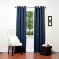 "Return Grommet Top Blackout Curtain 95""L 1pair | eBay / $24"