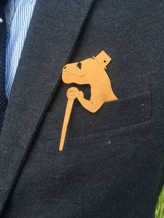 Laser cut leather dapper dino pocket square    These pocket squares are laser cut and made to order. Options include either a specific pocket size or general (one size fits most).  Material options include: Wood  Leather  Acrylic  All designs depicted are available and custom shapes are welcome as well!  If you have any questions let me know