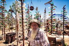 Elmer Long's Bottle Tree Ranch http://www.kcet.org/arts/artbound/counties/san-bernardino/elmer-long-bottle-tree-ranch.html#.U9EqnkjSSds.facebook