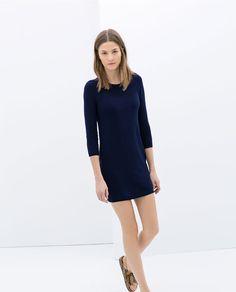 ZARA  - DRESS WITH A BACK ZIP material: 81% viscose, 17% nylon, 2% elastane