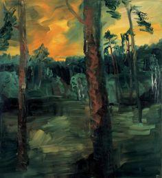 Rainer Fetting (German, b. 1949), Abend am Teufelssee [Evening at Teufelssee], 1988. Oil on canvas, 220 x 200 cm.