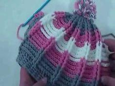引き上げ編みのニット帽の編み方How to crochet a knit hat by meetang - YouTube