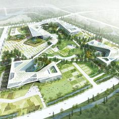The design of a new Government Complex of Chung-Nam Province - one of the nine South Korean provinces – re-imagines the idea, image and functions of an institutional building and government center. The design reconciles two opposing concepts: 1. BUILDING vs. NATURE and 2. GOVERNMENT vs. CIVIC. By blurring the differences between the built environment and the landscape, people are invited inside..
