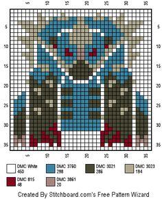 Arzuros Cross Stitch Monster Hunter