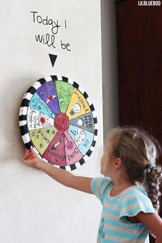 DIY Folk Art Spinning Wheel via Ashley Hackshaw / Lil Blue Boo #education #art #diy