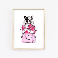 Instant download French bulldog art Bulldog print French