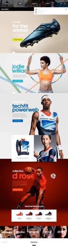 Adidas. Made for the winner. (More design inspiration at www.aldenchong.com) #webdesign