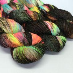 Hand dyed merino nylon sock yarn Nebula by HandDyedByKate on Etsy Roving Yarn, 4 Ply Yarn, Crochet Projects, Crochet Ideas, Finger Weights, Sock Yarn, Hand Dyed Yarn, Beautiful Hands, Knit Crochet