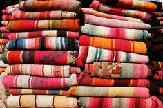 Vintage Mexican blankets