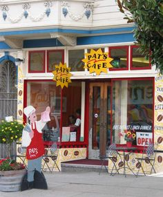 Colorful Pat's Cafe, San Francisco, California