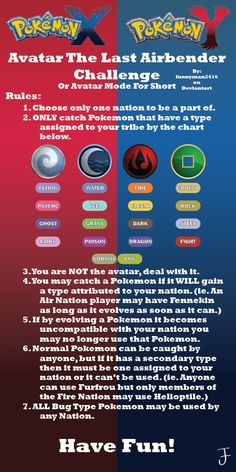 Original Avatar_Mode found here. My Avatar Mode for players of Pokemon X and Y versions. Some rules here don't apply to the original Avatar Mode. Pokemon Tips, Pokemon Challenge, Pokemon Rules, Pokemon X And Y, Pokemon Funny, Cool Pokemon, Pokemon Stuff, Pokemon Theory, Games