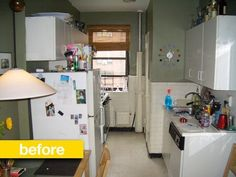 Kitchen Before & After:  A Cramped NYC Kitchen Gets a Chic Makeover   Professional Kitchen Remodel