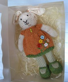 Little Cotton Rabbits Bunny Girl Knitted Bunny Doll Gift