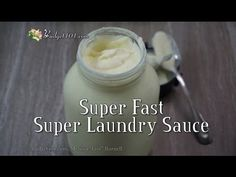 Super Concentrated Laundry Sauce Recipe, Use only 1 Tablespoon Per Load, yields 128 loads for less than $2 and takes less than 5 minutes to create! Printable Recipe Here: http://www.budget101.com/content.php/4075-five-minute-no-cook-laundry-detergent-recipe
