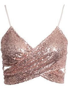 See this and similar tops - Sequin top from NLY One. Sequin Crop Top, Sequin Shirt, Sequin Outfit, Teen Fashion, Womens Fashion, Boho Fashion, Fashion Ideas, Fashion Trends, Vetement Fashion