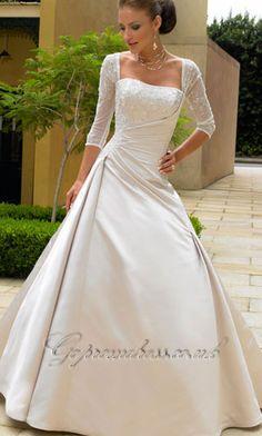 wedding dressses, idea, ball gowns, satin, dresses, dress wedding, the dress, winter weddings, sleeves