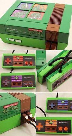 Customized Ninja Turtle NES Is Everything Good in This World Teenage Mutant Ninja Turtles, Teenage Ninja, Geek Mode, Bartop Arcade, Mundo Dos Games, Jamel, O Pokemon, Pokemon Fusion, Everything Is Awesome