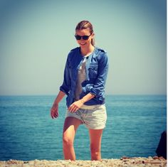 5d3c6c4fa3 Check out Italian TV presenter and model Fiammetta Cicogna wearing Timberland  sunglasses during her trip to