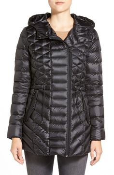 Halogen® Hooded Down Jacket