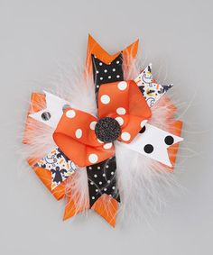 Take a look at this Spookable Bow Clip by Shimmy Shimmy Bowtique on #zulily today!