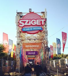 Sziget Festival/ The welcome bridge / Budapest Hungary