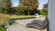 Teak, Pergola, Outdoor Furniture, Outdoor Decor, Water Features, Sun Lounger, Sidewalk, Gardening, Home Decor