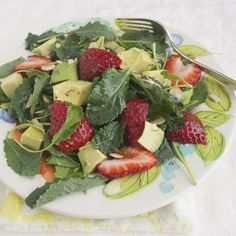 Baby Kale Salad with Strawberry and Avocado | taste love and nourish