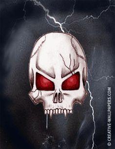 Mobile Phone Wallpaper Goth Vampire Skull