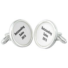 """Design Your Own"" Cufflinks are perfect for awards, gifts, weddings, etc. Silver plated, waterproof and bullet back closure."