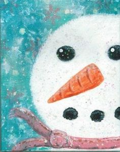 snowman mixed media - Bing Images
