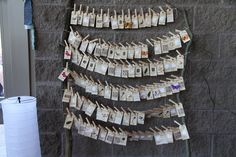 Vintage gift tag seating chart
